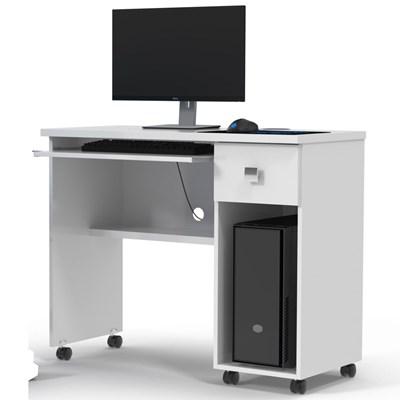 Mesa Para Computador 1 Gaveta Vicenza Branco - Lukaliam Móveis