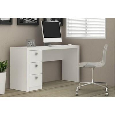 Mesa Para Computador 3 Gavetas ME4102 Branco - Tecno Mobili
