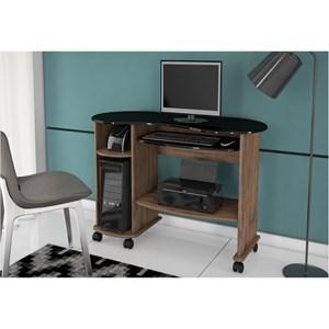 Mesa para Computador C18 com 110 cm Nobre com Preto - Dalla Costa