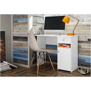 Mesa para Computador com 01 Gaveta Colegial MC7007 Branco - Art in Móveis
