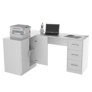 Mesa para Computador com Balcão Office Plus KIT 1000 Branco - Appunto