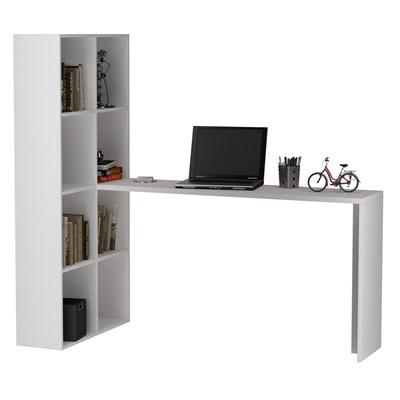 Mesa para Computador com Estante BE 38 Branco - BRV