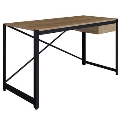 Mesa Para Computador Escrivaninha 1 Gaveta Steel Light Vermont/Preto - Artesano