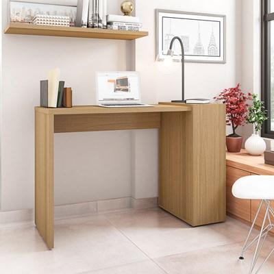 Mesa para Computador Escrivaninha 116cm Connection H01 Freijó - Mpozenato