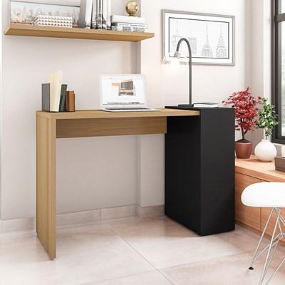 Mesa para Computador Escrivaninha 116cm Connection H01 Freijó/Preto - Mpozenato