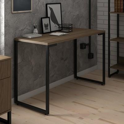 Mesa Para Computador Escrivaninha 120cm Estilo Industrial New Port F02 Castanho - Mpozenato
