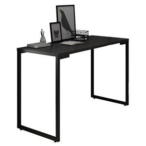 Mesa Para Computador Escrivaninha 120cm Estilo Industrial New Port  F02 Preto - Mpozenato