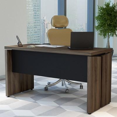 Mesa Para Computador Escrivaninha 1400 Y37 Nogal/Preto - Artany