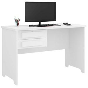 Mesa Para Computador Escrivaninha 2 Gavetas Alemanha Branco - RV Móveis