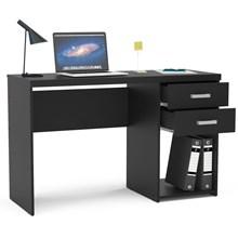 Mesa Para Computador Escrivaninha 2 Gavetas Malta Preto - Politorno