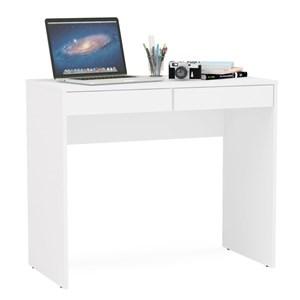 Mesa Para Computador Escrivaninha 2 Gavetas Tijuca Branco - Politorno