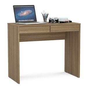 Mesa Para Computador Escrivaninha 2 Gavetas Tijuca Castanho - Politorno