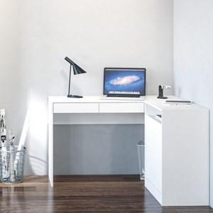 Mesa Para Computador Escrivaninha 2 Portas Portugal Branco - Politorno