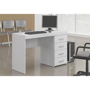Mesa Para Computador Escrivaninha 4 Gavetas Malta Branco - Politorno
