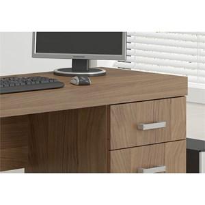 Mesa Para Computador Escrivaninha 4 Gavetas Malta Castanho - Politorno