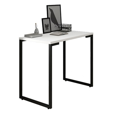 Mesa Para Computador Escrivaninha 90cm Estilo Industrial New Port F02 Branco - Mpozenato