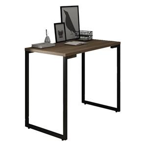 Mesa Para Computador Escrivaninha 90cm Estilo Industrial New Port F02 Castanho - Mpozenato