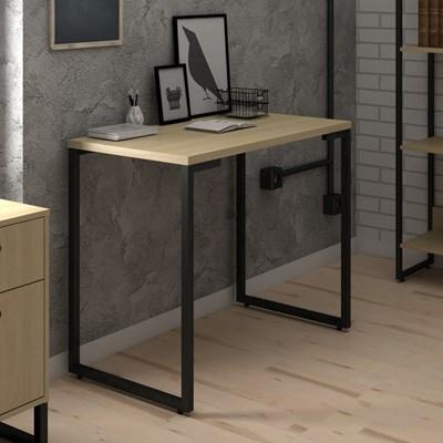 Mesa Para Computador Escrivaninha 90cm Estilo Industrial New Port F02 Nature - Mpozenato