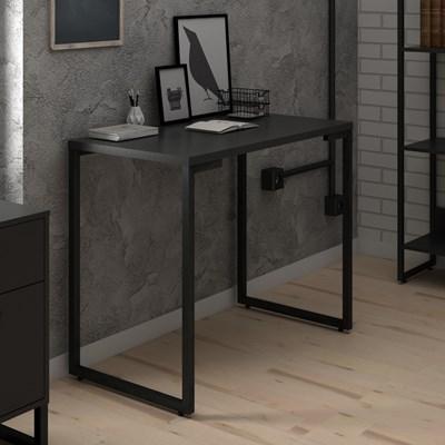 Mesa Para Computador Escrivaninha 90cm Estilo Industrial New Port F02 Preto - Mpozenato