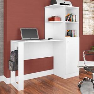 Mesa para Computador Escrivaninha Califórnia ES1300 Branco - Art in Móveis