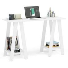 Mesa Para Computador Escrivaninha Cavalete Delta Branco - Politorno