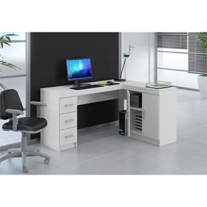 Mesa Para Computador Escrivaninha de Canto Espanha Branco - Politorno