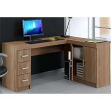 Mesa Para Computador Escrivaninha de Canto Espanha Castanho - Politorno