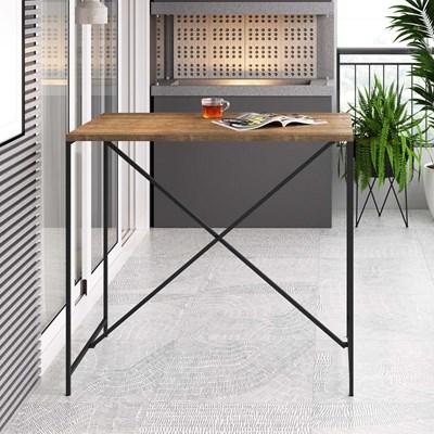 Mesa Para Computador Escrivaninha Estilo Industrial Steel Quadra Vermont/Preta - Artesano