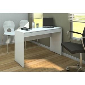 Mesa Para Computador Escrivaninha Lindóia Branco - Politorno