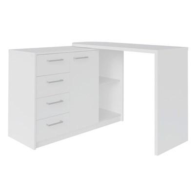 Mesa para Computador Escrivaninha Logan Web Branco - Artany