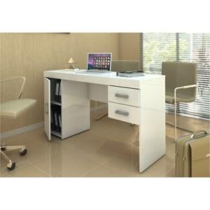 Mesa Para Computador Escrivaninha Miranda Branco - Politorno