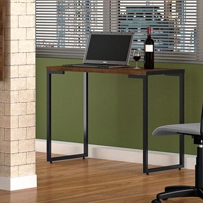 Mesa Para Computador Escrivaninha Porto 120cm Castanho - Fit Mobel