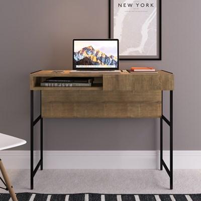 Mesa para Computador Escrivaninha Steel Quadra 1 Gaveta Vermont Base Preta - Artesano