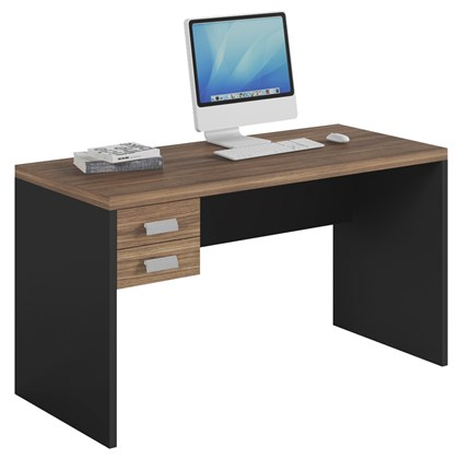 Mesa Para Computador Escrivaninha Studio 2 Gavetas Argan/ Preto TX - Caemmun