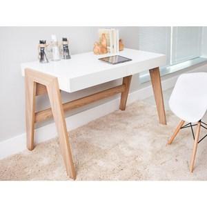 Mesa para Computador Escrivaninha Trend 2 Gavetas Hanover/Off White - Artesano