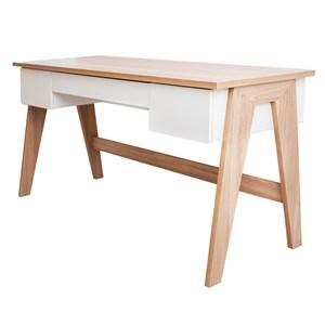 Mesa para Computador Escrivaninha Trend 3 Gavetas Hanover/Off White - Artesano