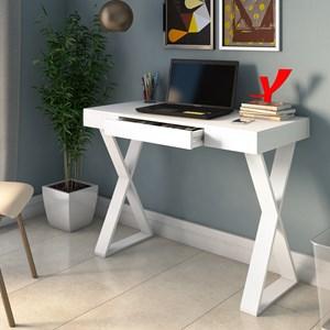 Mesa para Computador Escrivaninha Veneza Web Branco - Artany