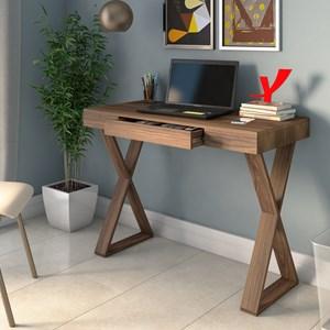 Mesa para Computador Escrivaninha Veneza Web Nogal - Artany
