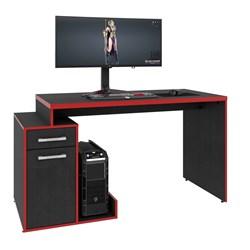 Mesa para Computador Gamer 1 Porta 1 Gaveta Flex Shark C08 Preto Ônix/