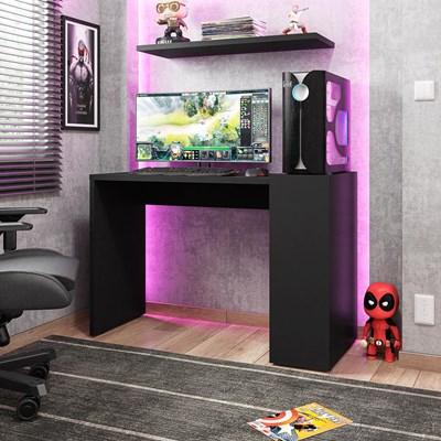 Mesa para Computador Gamer 116cm Connection H01 Preto - Mpozenato