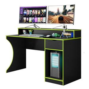 Mesa para Computador Gamer Craft B03 Preto/Verde - Mpozenato