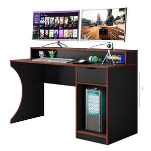 Mesa para Computador Gamer Craft B03 Preto/Vermelho - Mpozenato