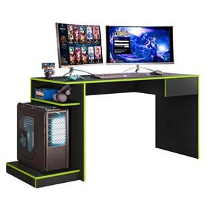 Mesa para Computador Gamer Speed B03 Preto/Verde - Mpozenato