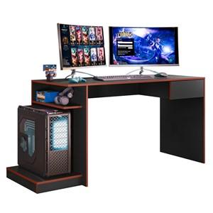 Mesa para Computador Gamer Speed B03 Preto/Vermelho - Mpozenato