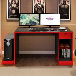 Mesa para Computador Notebook Desk Game DRX 3000 Preto/Vermelho - Móveis Leão