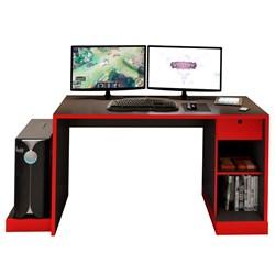 Mesa para Computador Notebook Desk Game DRX 3000 Preto/Vermelho - Móve