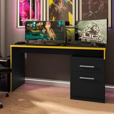 Mesa para Computador Notebook Desk Game DRX 4000 M09 Preto/Amarelo - Mpozenato