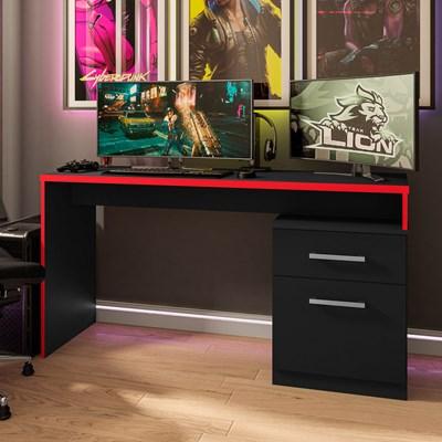 Mesa para Computador Notebook Desk Game DRX 4000 M09 Preto/Vermelho - Mpozenato