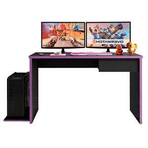 Mesa para Computador Notebook Desk Game DRX 8000 M09 Preto/Lilás - Mpozenato