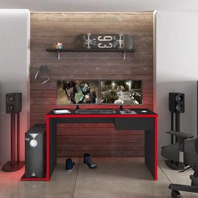 Mesa para Computador Notebook Desk Game DRX 8000 M09 Preto/Vermelho - Mpozenato